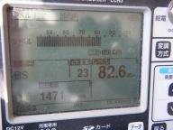 野田市BSアンテナレベル